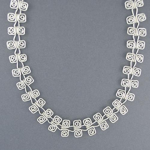 Sterling Silver Spiral Link Necklace