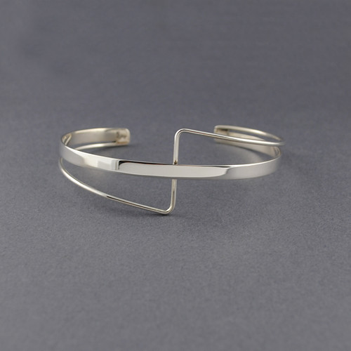 Sterling Silver Criss Cross Cuff
