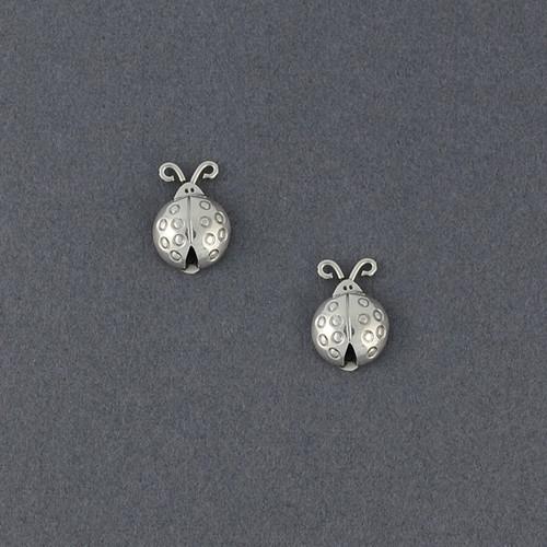 Sterling Silver Ladybug Stud Earrings