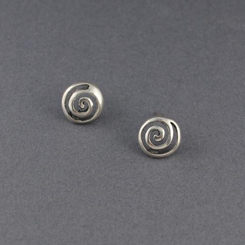 Sterling Silver Cutout Spiral Earrings