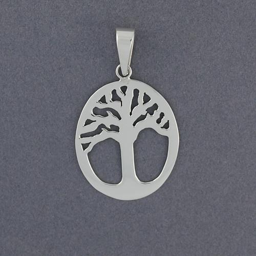 Sterling Silver Framed Tree Pendant