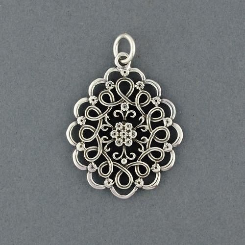 Sterling Silver Ornate Pendant