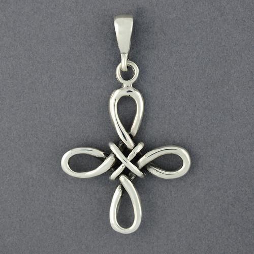 Sterling Silver Looped Cross Pendant