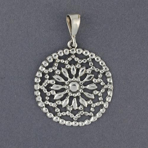 Sterling Silver Dreamcatcher Pendant