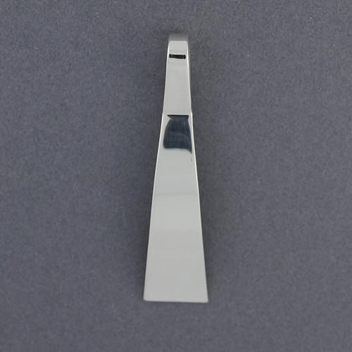 Sterling Silver Modern Curve Pendant