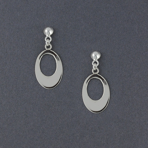 Sterling Silver Ovals on Posts