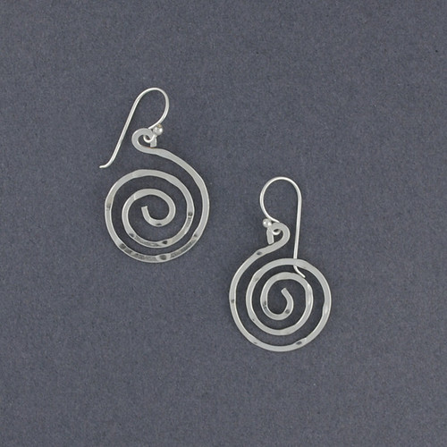 Sterling Silver Sparkling Spiral Earrings