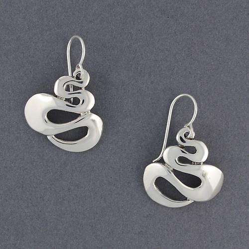 Sterling Silver Winding Earring