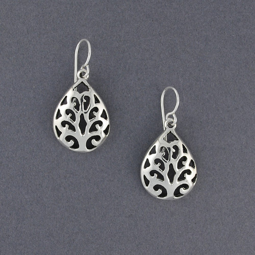 Sterling Silver Cutout Dangles