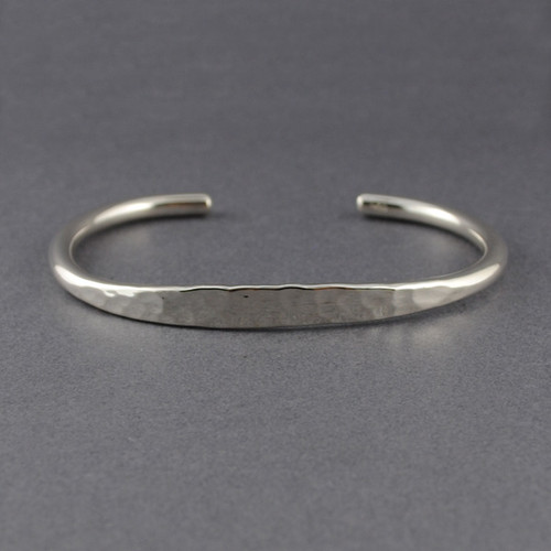Sterling Silver Hammered Front Cuff