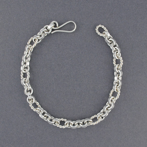 Sterling Silver Mini Twisted Link Bracelet