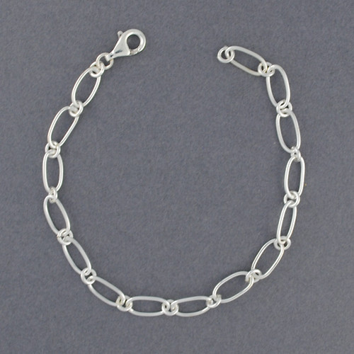 Sterling Silver Light Oval Link Bracelet