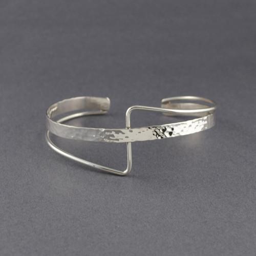 Sterling Silver Layered Cross Cuff