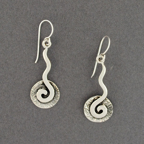 Sterling Silver Antiqued Spiral Earrings