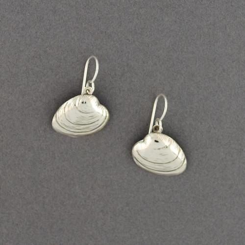 Sterling Silver Quahog Earrings