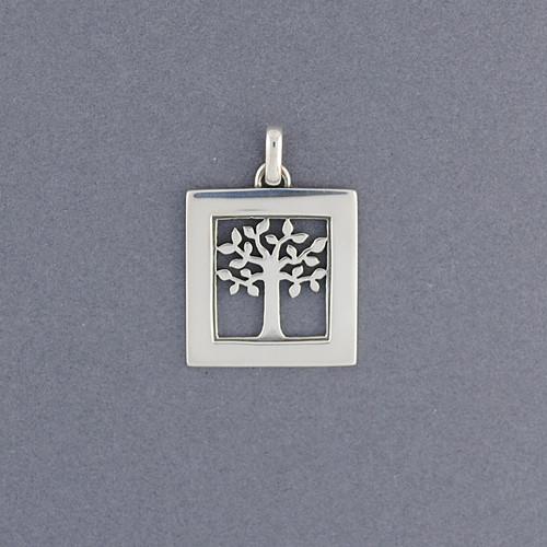 Square Tree of Life Pendant