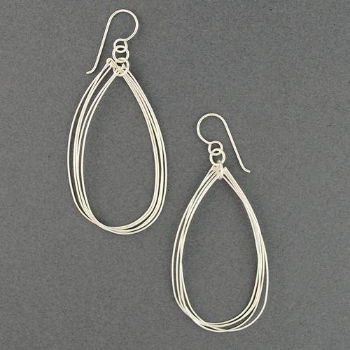 Sterling Silver Layered Teardrop Earrings