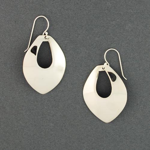 Sterling Silver Pointed Teardrop Earrings