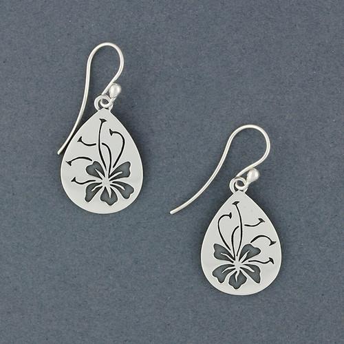 Hibiscus Teardrop Earrings