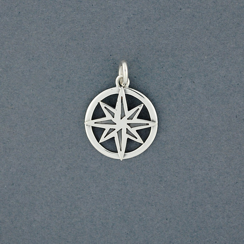 Exclusive Rhode Island Compass Rose Charm