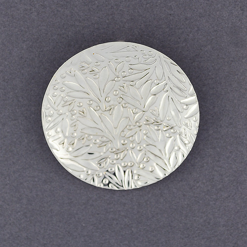 Sterling Silver Foliage Circle Pendant