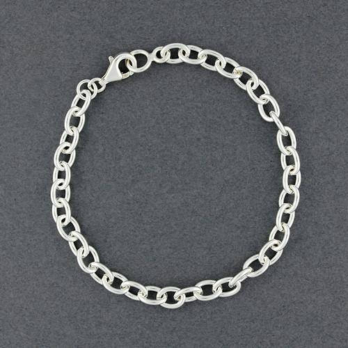Sterling Silver Mini Oval Bracelet