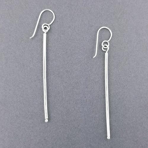 Sterling Silver Thin Drop Earrings