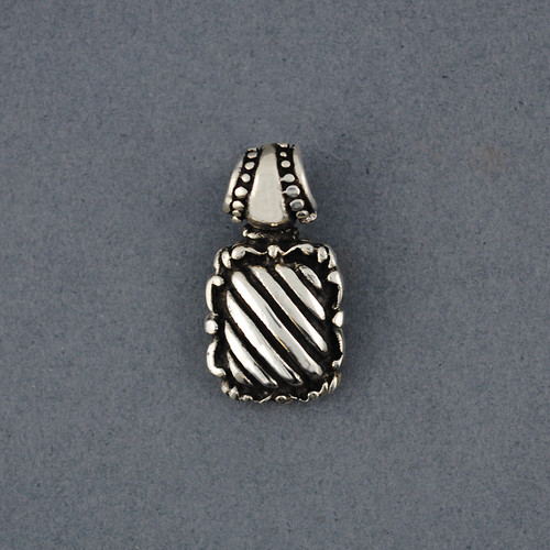Sterling Silver Diagonal Striped Pendant