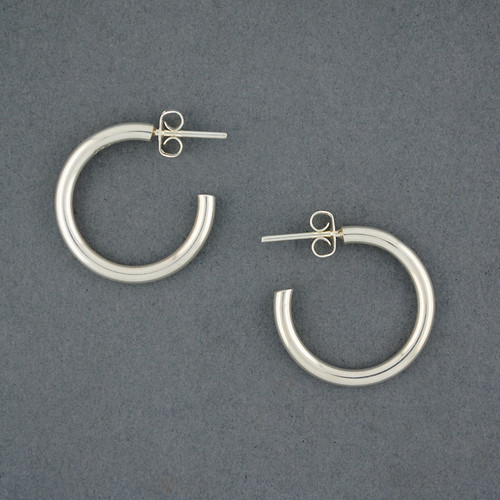Sterling Silver Medium Classic Hoop