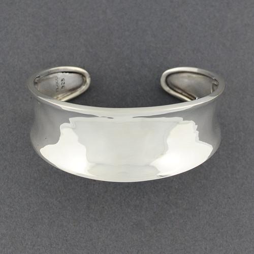 Sterling Silver Classic Concave Cuff