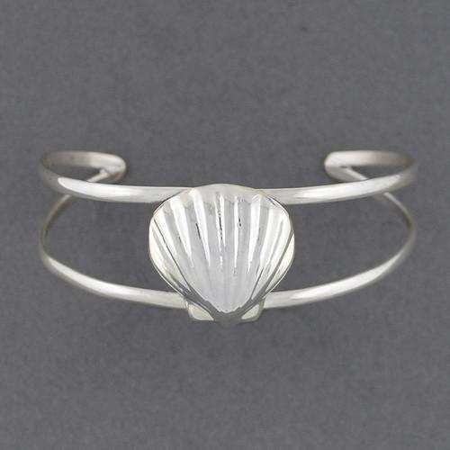 Sterling Silver Scallop Shell Cuff