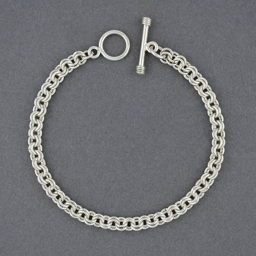 Sterling Silver Double Circle Link