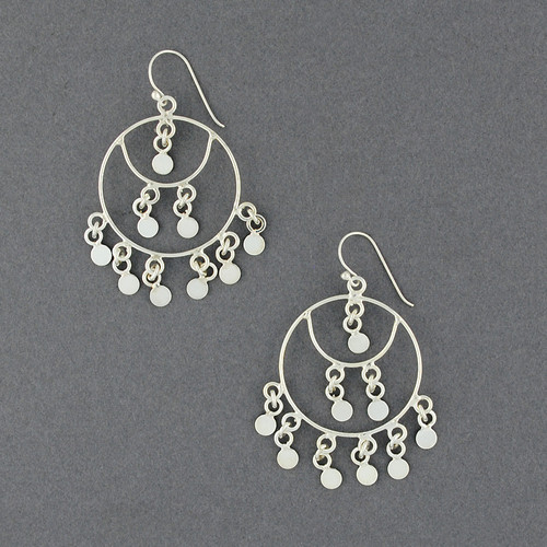 Sterling Silver Circles Chandelier Earring