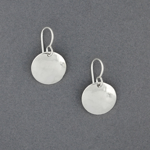 Sterling Silver Mini Hammered Circle Earring