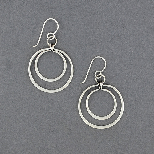 Sterling Silver Thin Double Circle Earring
