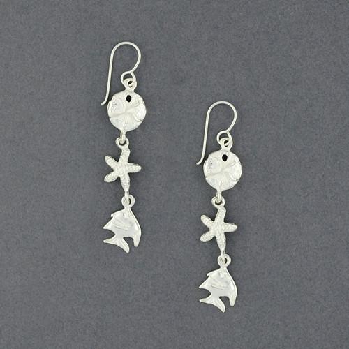Sterling Silver Sea Life Earrings