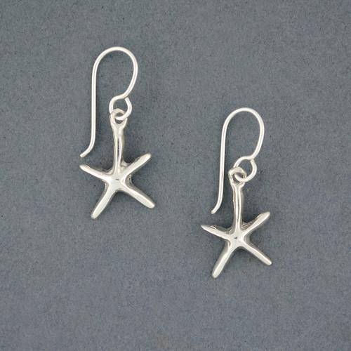 Sterling Silver Mini Starfish Earrings