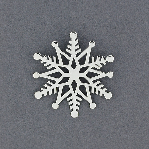 2019 Limited Edition Sterling Silver Snowflake Pendant