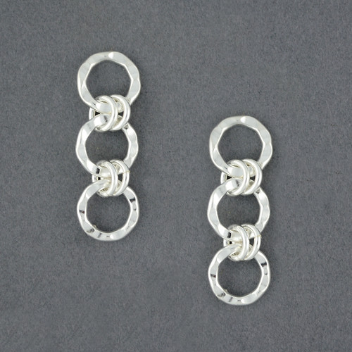 Sterling Silver Linked Circle Earrings