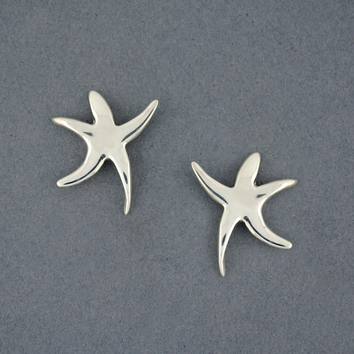 Sterling Silver Dancing Starfish Post Earring