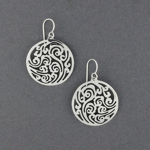 Sterling Silver Filigree in Circle Earrings