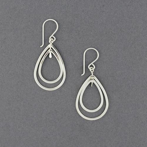 Sterling Silver Small Floating Teardrop Earrings