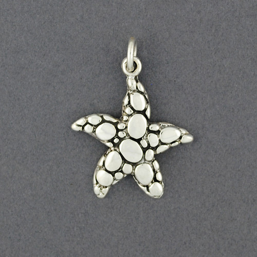 Sterling Silver Carved Starfish Pendant