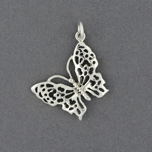Sterling Silver Cutout Butterfly Pendant
