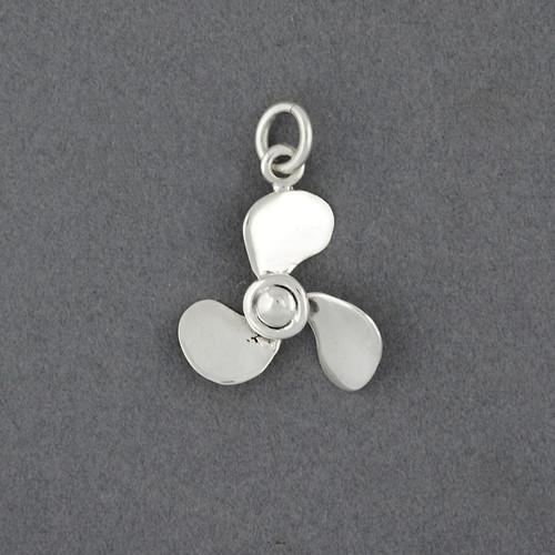 Sterling Silver Propeller Pendant