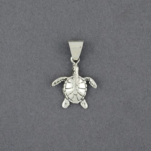 Sterling Silver Small Sea Turtle Pendant