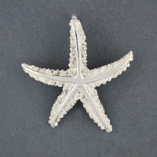 Sterling Silver Textured Starfish Pendant
