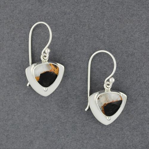 Trillion Dalmation Stone Earrings