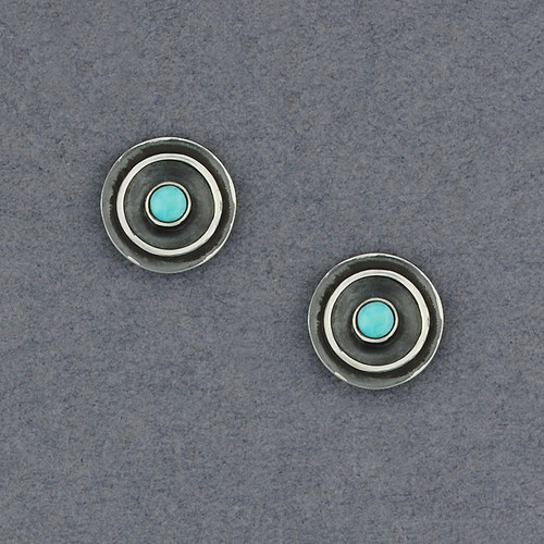 Ethnic Stud Earrings with Turquoise