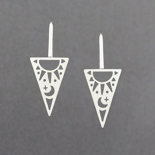 Triangle Sun & Moon Earrings